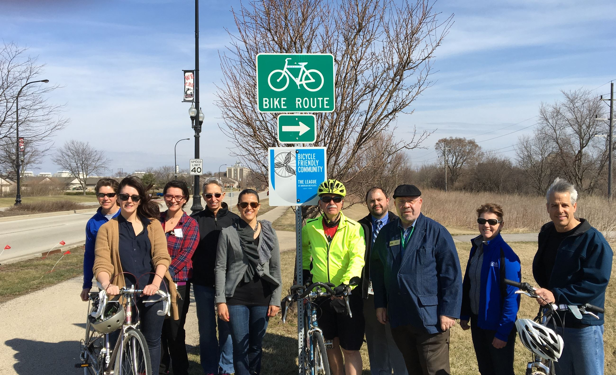 Bicycle Friendly Sign Group Picture