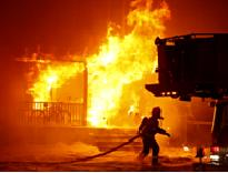 Suppressing a structure fire