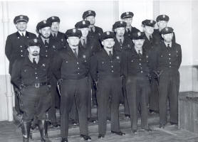 Group Photo in Uniform in Black and White